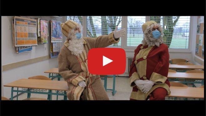 Prihod Božička in dedka Mraza na OŠ Veržej 2020